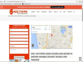 Southern Cargo Packers and Movers in Andheri (Mumbai) Ensures Trouble-Free Transfer