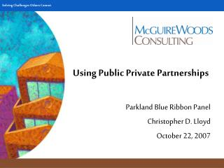 Using Public Private Partnerships