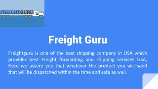 Best Freight shippers usa