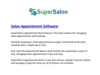 Salon Appointment Software - SuperSalon