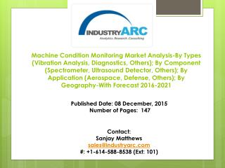 Machine Condition Monitoring Market Analysis- By Geography-With Forecast 2016-2021