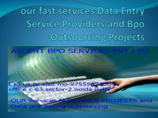 our fast services Data Entry Service And Data Outsourcing Companies