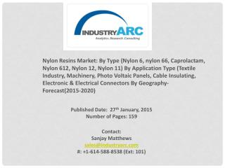 Nylon Resins Market holds Nylon 6 and Nylon 66 as the most popular product types.
