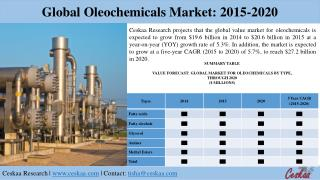 Global Oleochemicals Market Research Report
