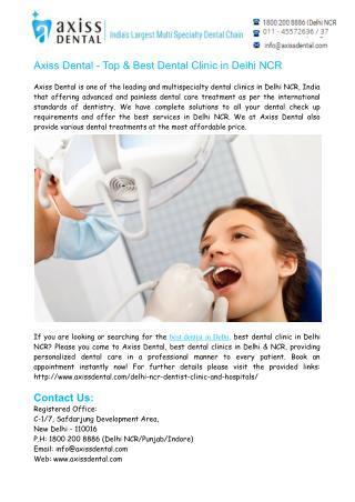 Best Dentist in Delhi NCR- Best Dental Clinic in East Delhi
