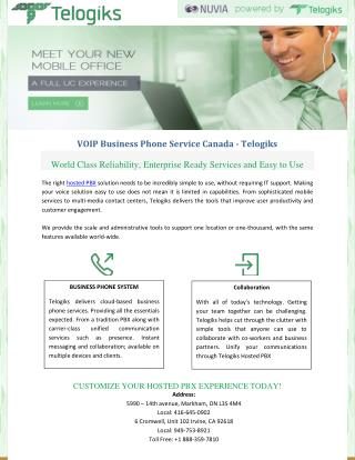 VOIP Business Phone Service Canada – Telogiks