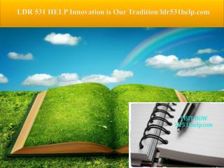 LDR 531 HELP Innovation is Our Tradition/ldr531help.com