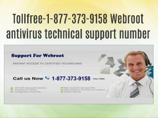 Tollfree-1-877-373-9158 Webroot antivirus technical support number