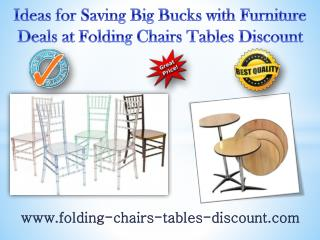 Ideas for Saving Big Bucks with Furniture Deals at Folding Chairs Tables Discount