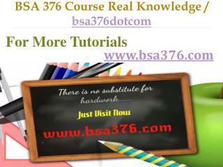 BSA 376 Course Real Knowledge / bsa376dotcom
