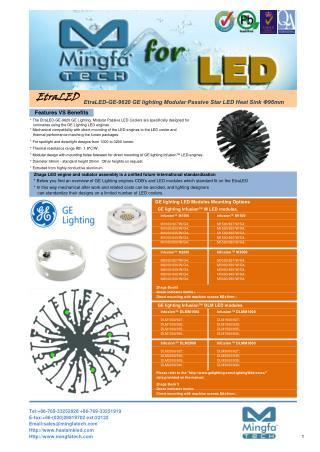 GE Infusion LED Cooling Manufacturer