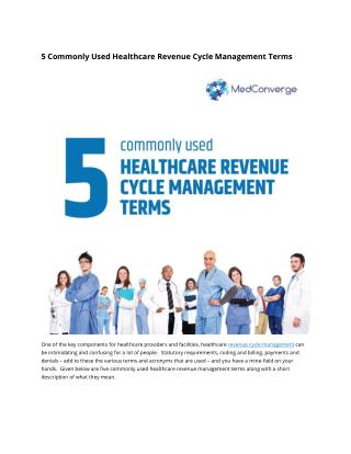 5 Commonly Used Healthcare Revenue Cycle Management Terms