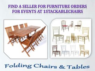 Find a Seller for Furniture Orders for Events at 1stackablechairs