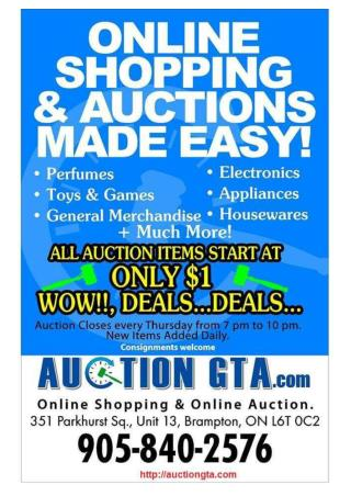 Auction gta live online auction in toronto and greater toronto area