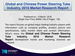 Power Steering Tube Industry: What to Watch Out for in Coming Future!