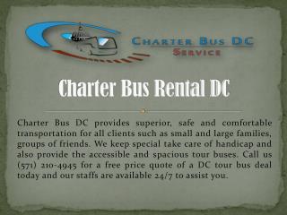 DC Charter Bus Rental Service