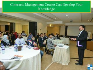 Contracts Management Course Can Develop Your Knowledge