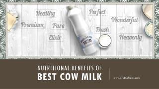 Nutritional benefits of best cow milk