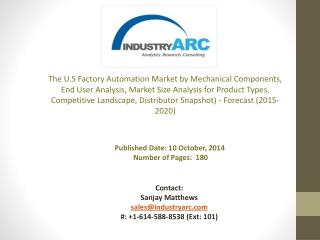 Growing U.S Factory Automation Market has parallelly driven the sales and revenue of industrial Mkt.