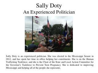 Sally Doty - An Experienced Politician