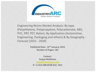 Engineering Resins Market major production: base for plastic and clothing Industries.