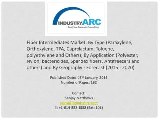 Fiber Intermediates Market driven by the Industrialization of developing economies.