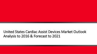 United States Cardiac Assist Devices Market Outlook Analysis to 2016 & Forecast to 2021