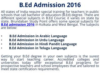 B.Ed degree in West Bengal