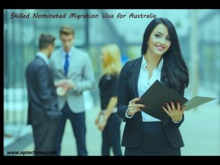 Skilled Nominated Migration Visa for Australia