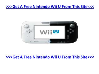 How To Get A Completely Free Nintendo Wii U