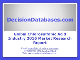 Worldwide Chlorosulfonic Acid Industry Analysis and Revenue Forecast 2016