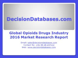 Opioids Drugs Market Worldwide Analysis and Forecasts 2021
