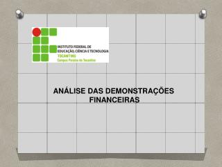 Demonstração financeira