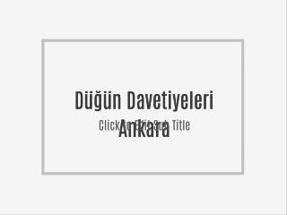 Düğün Davetiyeleri Ankara