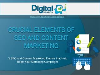 The Fundamentals of SEO and Content Marketing