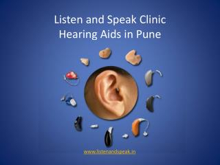 Hearing Aids & Speech Therapy Center – Listen and Speak in Pune