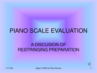 PIANO SCALE EVALUATION