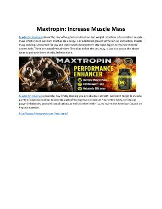 Maxtropin: Increase Muscle Mass