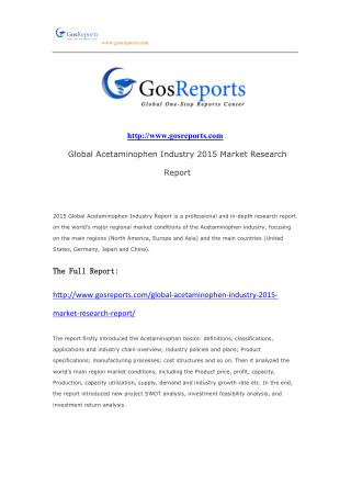 Global Acetaminophen Industry 2015 Market Research Report