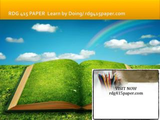 RDG 415 PAPER Learn by Doing/rdg415paper.com