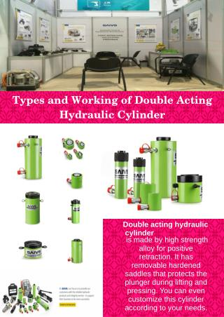 Types and Working of Double Acting Hydraulic Cylinder