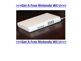 Signing Up for A Free Nintendo Wii U