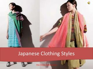 Japanese Clothing Styles