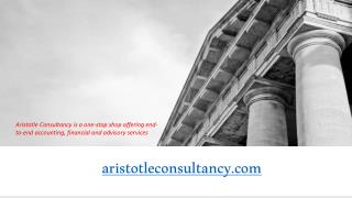 Accounting Outsourcing, Virtual CFO, Payroll Services, Advisory Services by Aristotle Consultancy