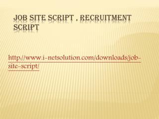 Job Site Script , Recruitment Script