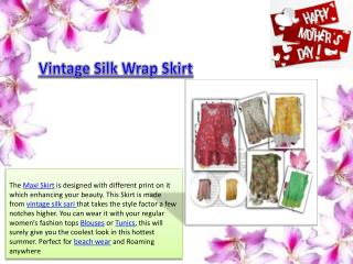 Vintage Silk Sari Short Skirt