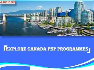 Explore Canada PNP Programmes