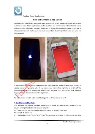 How to fix iPhone 6 Red Screen