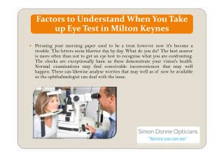 Factors to Understand When You Take up Eye Test in Milton Keynes