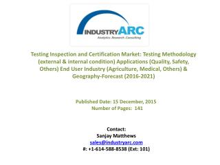 Testing Inspection and Certification Market in APAC countries like Japan, Korea, and China own the leading companies of